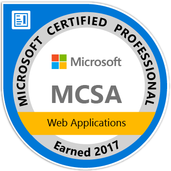 Microsoft MCSA Web Applications